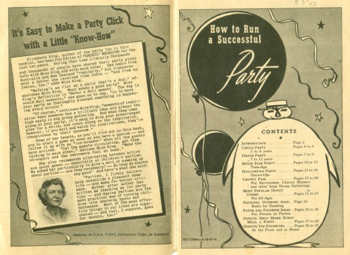 elizabeth king party book