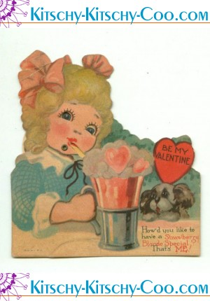 antique mechanical soda shop valentine