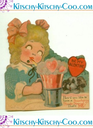 antique mechanical soda shop valentine stawberry