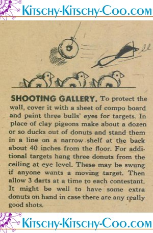 vintage duck donut shooting gallery game