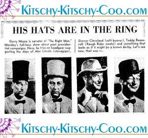 san antonio light oct 23 1960 garry moore in presidential hats