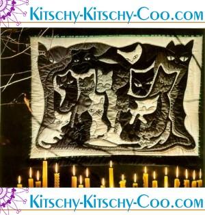 halloween cat maze quilt