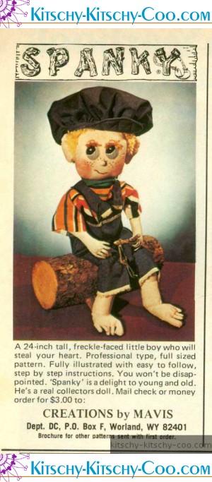 spanky doll ad 1978