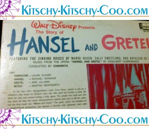 story of hansel and gretel disney record