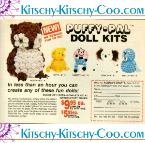 vintage puffy pal doll kits ad sep78