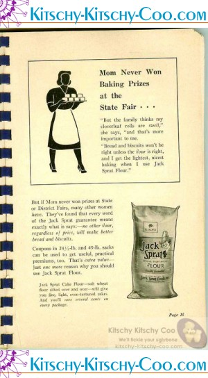jack sprat flour ad in cookbook