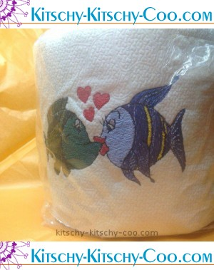 kissing fish toilet paper