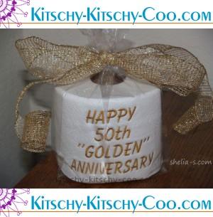 scat golden anniversary emboridered toilet paper