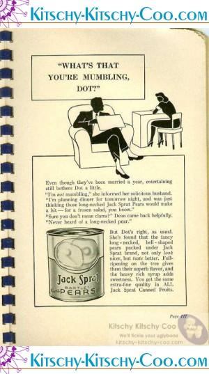 vintage jack sprat ad pears