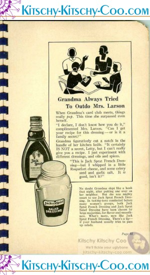 vintage jack sprat cookbook advertising