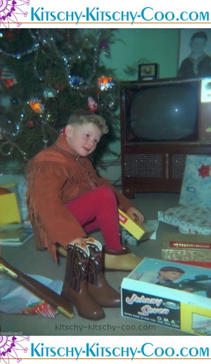 Vintage CHRISTMAS Negative 1960s TOYS Johnny Seven Gun
