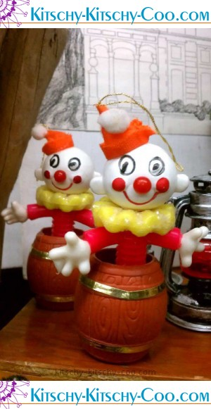 retro clown ornaments kitschy collectibles