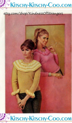vintage knit girlie sweaters