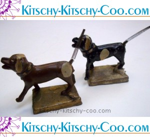 antique metal dogs with spring tails