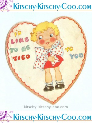 antique vintage tied to you valentine