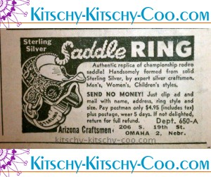 1947 saddle ring