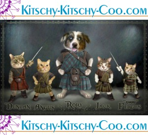 pets in kilts custom portraits by fotos2art at etsy