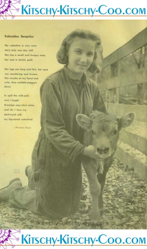 american junior red cross cow valentine
