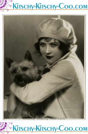 Marie Prevost and dog