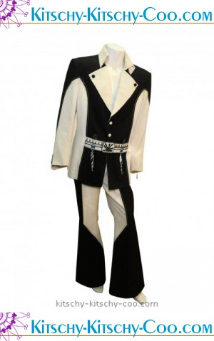 Elvis Presley Black and White Penguin Suit