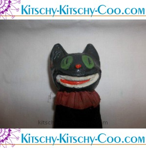 antique black cat halloween made in germany