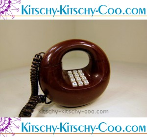 retro sculptura mod round phone