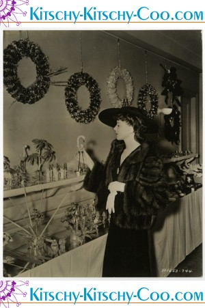 Vintage Ida Lupino Art Deco Christmas Decorations Photograph