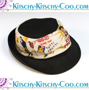 vintage elvis tuttie fruitti i love you hat