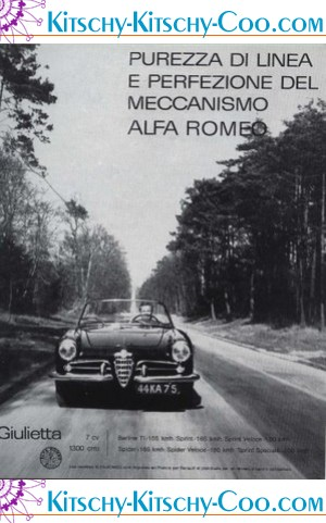 vintage French car ad