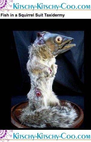 Kitschy kitschy coo for Fish taxidermy prices